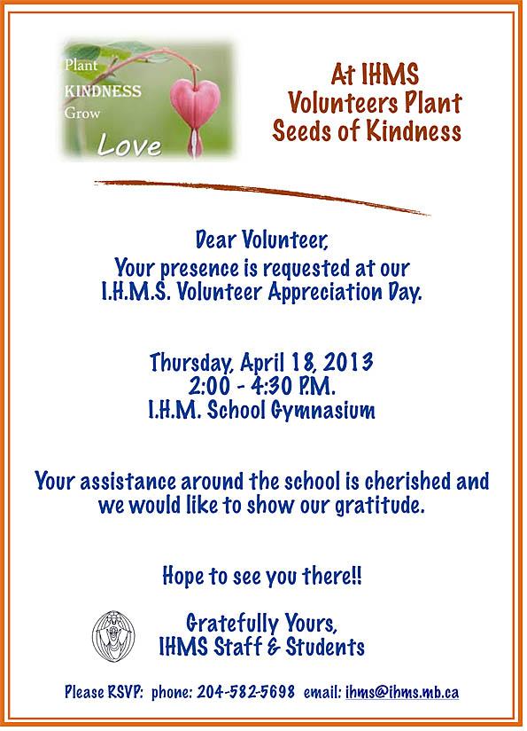 Volunteer Invite '13