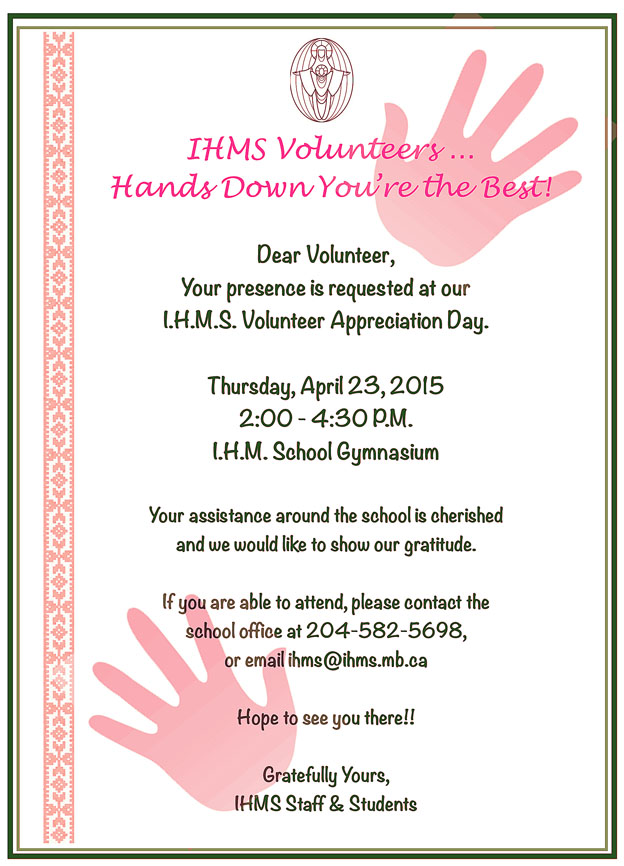 Invitation Wording Volunteer Appreciation Choice Image ...